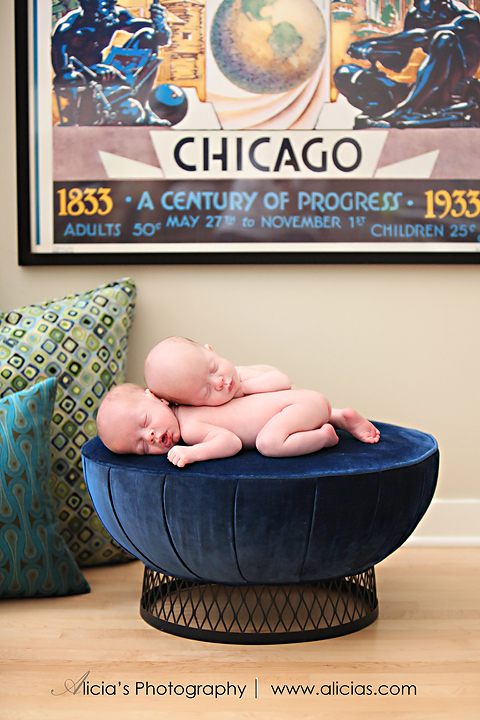 "Chicago Newborn Twin Photographer...The ""M"" Twins"
